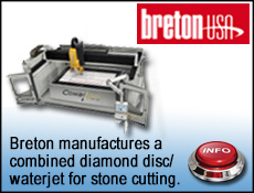 Breton USA systems for waterjet cutting stone