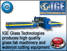 IGE Glass for water jet glass cutting