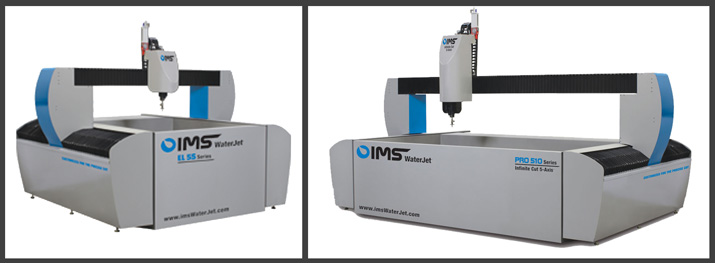 IMS WaterJet systems are customized for the precise cut