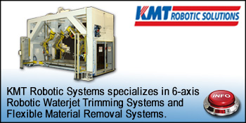 KMT Robotic Solutions for robotic waterjet cutting