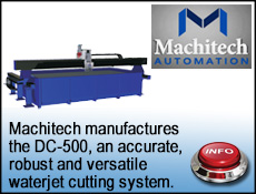 Machitech robust and versatile Waterjet cutting systems