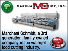 Marchant Schmidt designs for Food industry, granola bars, snack cakes waterjet cutting