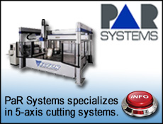 PaR Systems for 5-axis waterjet cutting