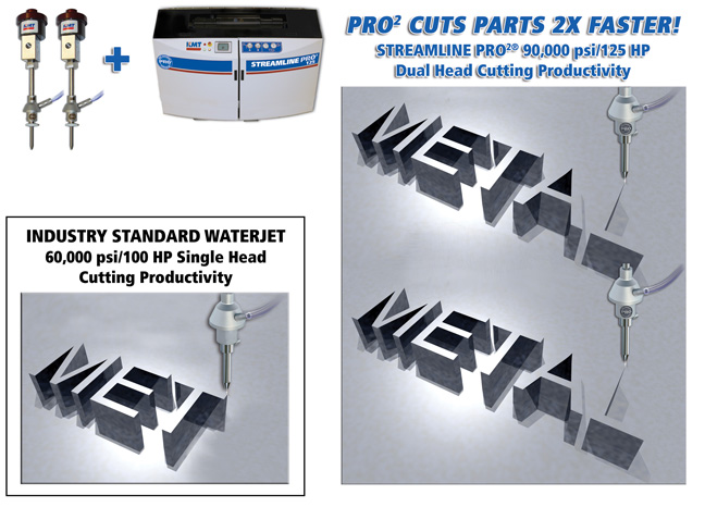 PRO METAL WATERJET CUTTING 2 TIMES FASTER