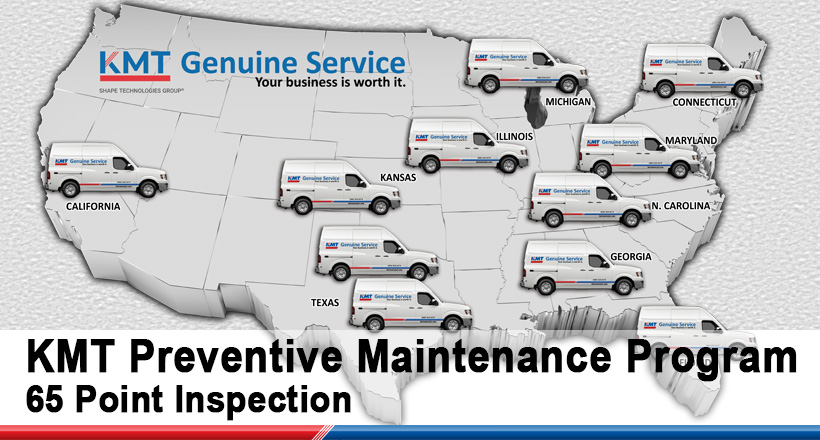 KMT GENUINE SERVICE VAN MAP
