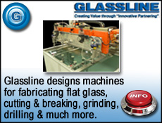 Glassline machines for waterjet cutting glass