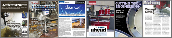 Waterjet cutting stories Cutting Tool Engineering, Fabricator, Fresh Cut, Canadian Metalworking,Modern Metals