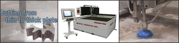 Koike Aronson Ransome provides customized designed abrasive  waterjet cutting tables to fit standard or for special applications.