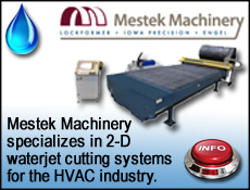 Mestek Machinery for HVAC Water Jet cutting