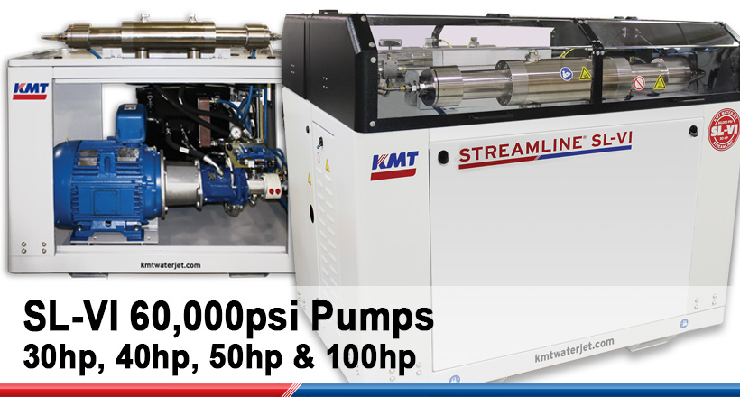 KMT SL-VI 60,000PSI WATERJET PUMPS