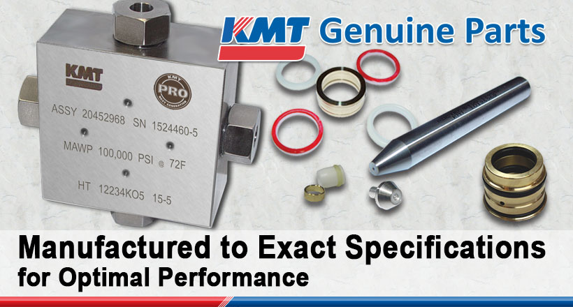 KMT WATERJET CUTTING GENUINE PARTS HIGH PRESSURE