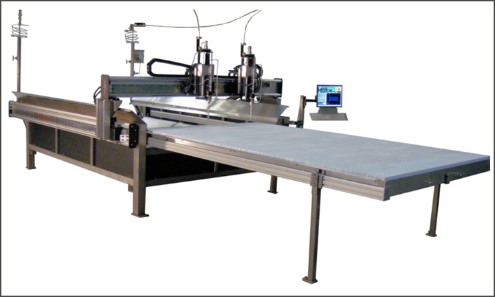 PST fabricates high speed waterjet systems for soft material