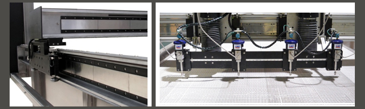 PTS WATERJET CUTTING MACHINE features  FOR SOFT MATERIALS.